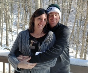 HCRI alumna Bethany Marcusson-Mercedes with her husband Chris.