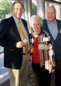 HCRI President Dr. Ron Webster with Annie and John Glenn at the Institute's 35th Anniversary Event